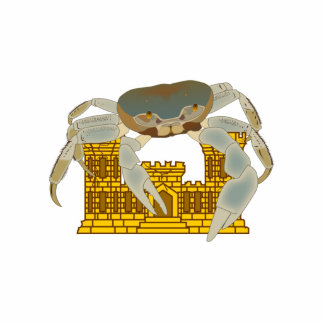 Crabs over cracked castles statuette