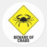 Crabs Round Sticker