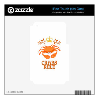 Crabs Rule iPod Touch 4G Decals