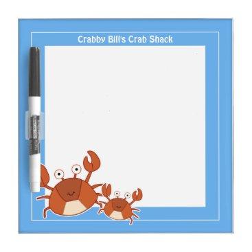 Crabs Small Dry Erase Board 8x8
