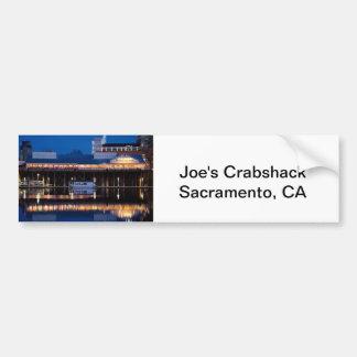 Crabshack de Joe en la noche Pegatina Para Auto