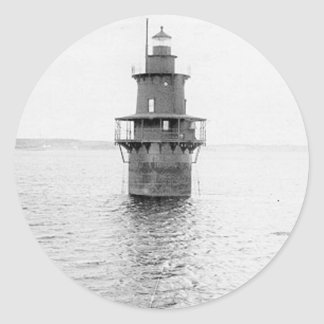 Crabtree Ledge Lighthouse Classic Round Sticker