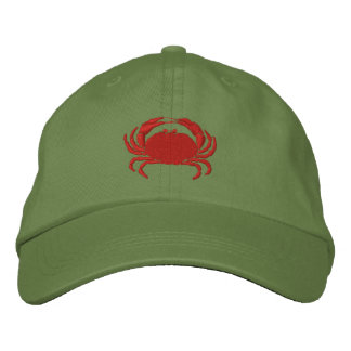 Craby Crab Embroidered Baseball Cap