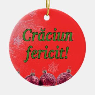 Crăciun fericit! Merry Christmas in Romanian gf Ceramic Ornament