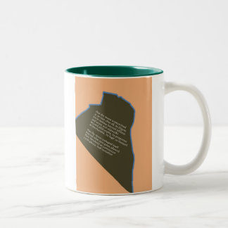 """""""Crack At The Arts Club Of Chicago"""" Two-Tone Coffee Mug"""