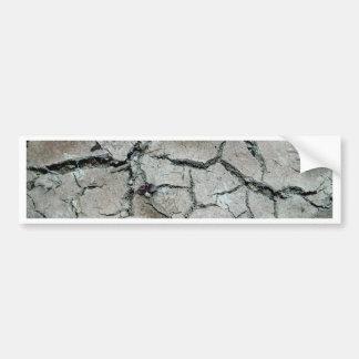 crack earth bumper sticker