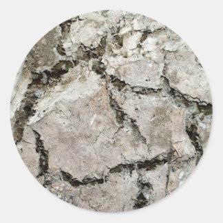 crack earth classic round sticker