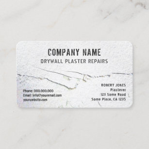 Drywall business cards zazzle crack in drywall plaster repairs white drywaller business card accmission Gallery