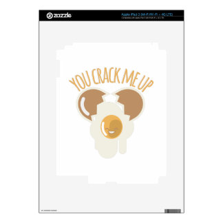 Crack Me Up Decals For iPad 3