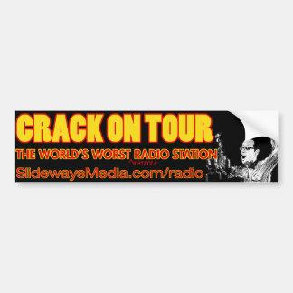 Crack On Tour Radio Bumper Sticker Car Bumper Sticker