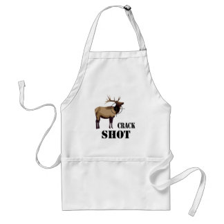 crack shot adult apron