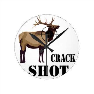 crack shot round wallclocks