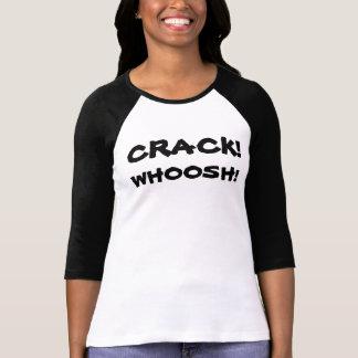 Crack Whoosh 3/4 Sleeve Baseball T-Shirt