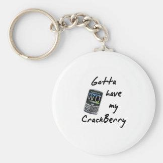 Crackberry Llavero Redondo Tipo Pin