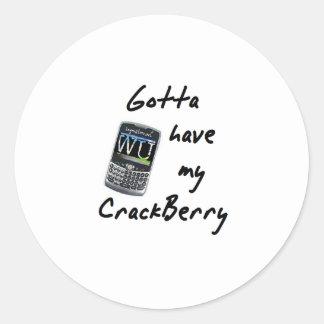 Crackberry Etiquetas Redondas