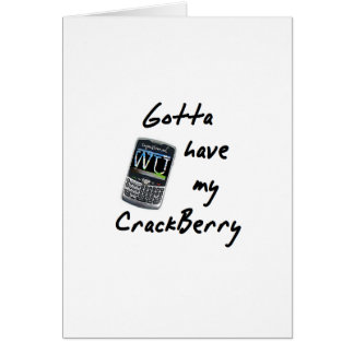 Crackberry Tarjeta De Felicitación