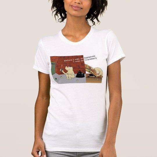CrackberryAppleholic Light Colors Narrow Image T-Shirt