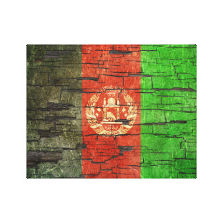 Cracked Afghan Flag Peeling Paint Effect Canvas Prints