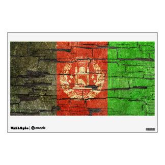 Cracked Afghan Flag Peeling Paint Effect Wall Skins