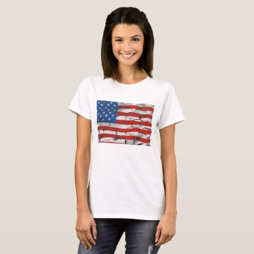 USA Themed Cracked American flag shirt