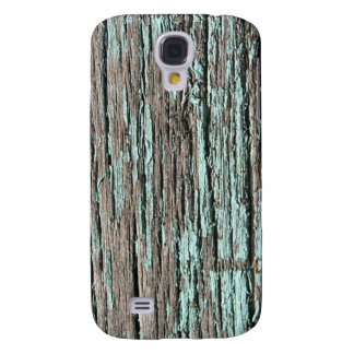 Cracked Aqua Paint Old Wood iPhone 3G 3GS Case Samsung Galaxy S4 Case
