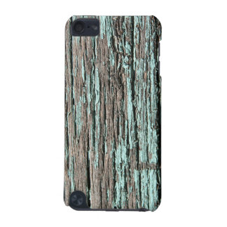 Cracked Aqua Paint Old Wood iPod Touch Case