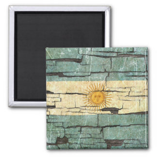 Cracked Argentinian Flag Peeling Paint Effect Magnets