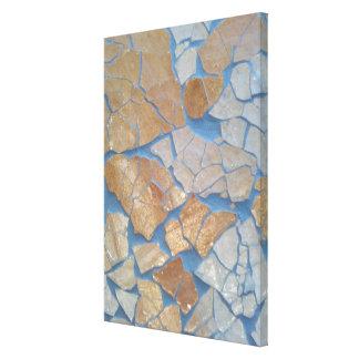 Cracked Art Canvas Print