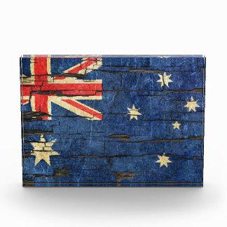 Cracked Australian Flag Peeling Paint Effect Award