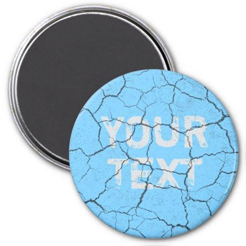 Cracked Baby Blue  Vintage   Kitchen  Magnet