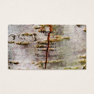 Cracked Birch Bark Business Card