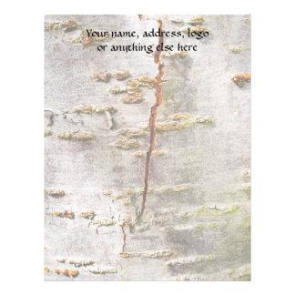 Cracked Birch Bark Letterhead