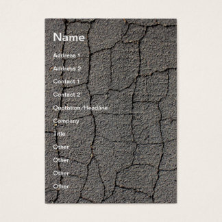 Cracked black pavement texture business card