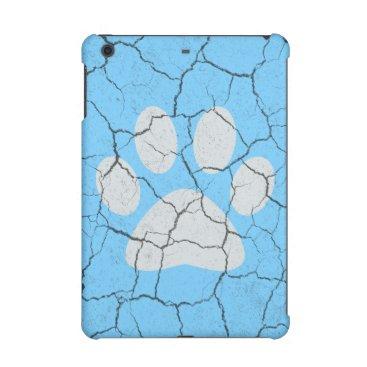Cracked Blue  Animal Paw Print iPad Mini 2  3 Case iPad Mini Case
