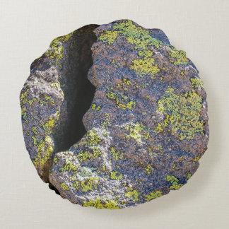 Cracked Boulder Round Pillow