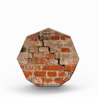 Cracked brick wall acrylic award