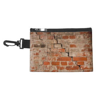 Cracked brick wall accessory bags
