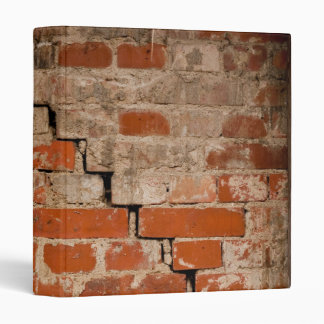 Cracked brick wall 3 ring binders