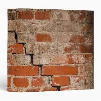 Cracked brick wall binder