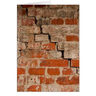 Cracked brick wall card