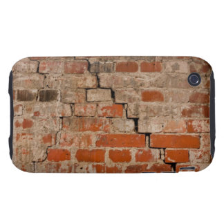 Cracked brick wall tough iPhone 3 covers