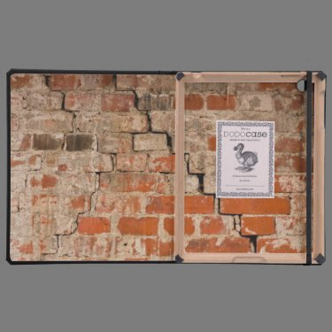 Cracked brick wall cover for iPad