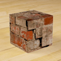 Cracked brick wall favor box