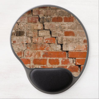 Cracked brick wall gel mouse pads