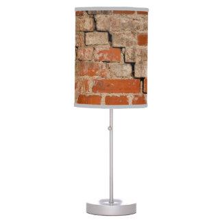 Cracked brick wall table lamp