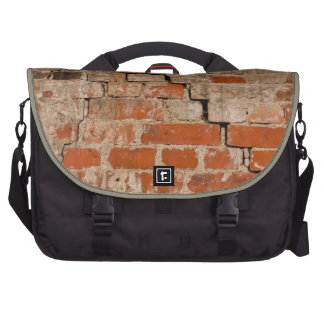 Cracked brick wall laptop commuter bag