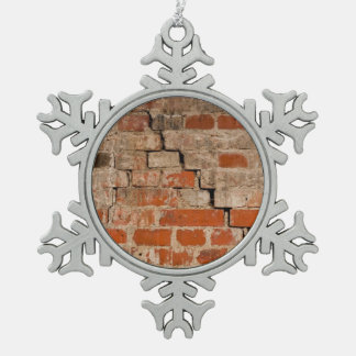 Cracked brick wall ornament