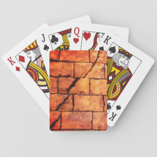 Cracked Brick Wall Playing Cards
