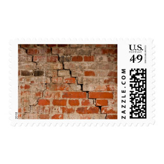 Cracked brick wall stamps