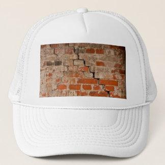Cracked brick wall trucker hat